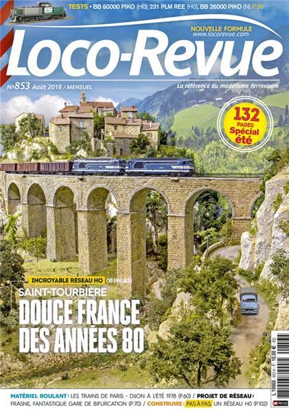 Loco Revue n°853 -  Août 2018