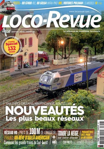 Loco Revue n°858 -  Janvier 2019