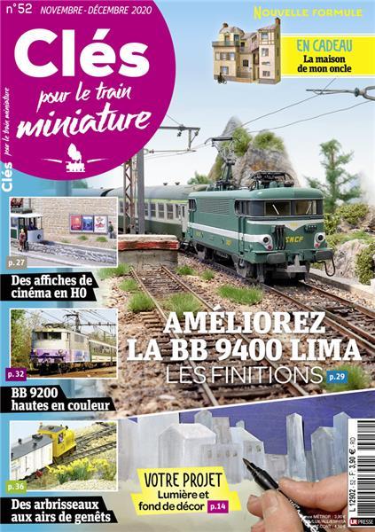 Nouveau numéro : Clés pour le train miniature n°52  Novembre-Décembre 2020