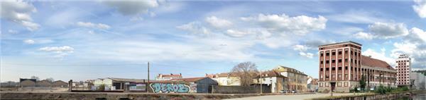 Fond De Decor Panoramique Industriel Rue De Suede H0 33 Cm X