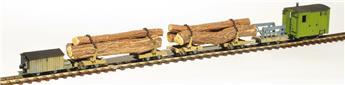 La rame forestière Abreschviller avec grumes - P´tits Kits Voie Libre - version montée et peinte