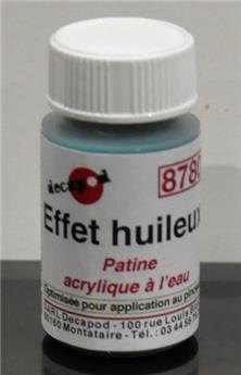 Patine acrylique à l´eau effet huileux