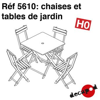 Chaises et tables de jardin