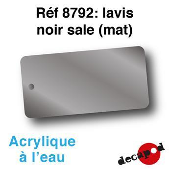Patine acrylique à l´eau lavis noir sale