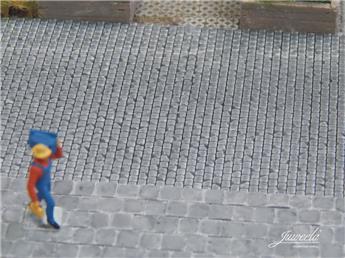 Pavés / Dalles de trottoir gris foncé