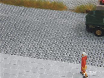 Pavés de trottoir gris clair