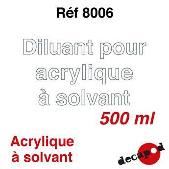 Diluant pour acrylique à solvant 500 ml
