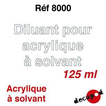 Diluant pour acrylique à solvant 125 ml