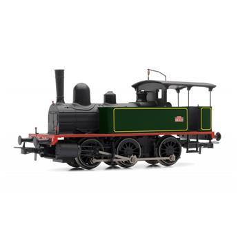 Locomotive à vapeur 030T livrée verte à filets jaunes 303T Epoque III