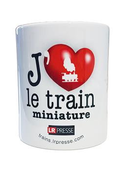 Mug J´aime le train miniature