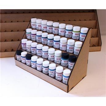 Présentoir 36 cases pour acryliques à l´eau