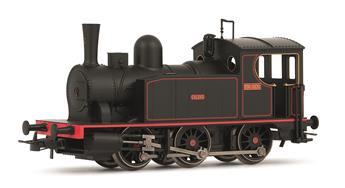 Locomotive à vapeur 030T livrée noire à filets rouges Epoque III