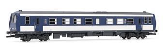 Autorail X 2200 livrée bleu, blanc et gris époque IV analogique