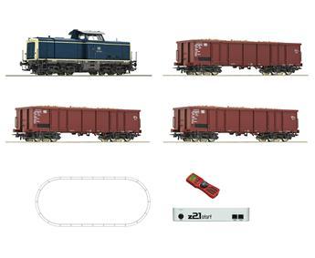 Coffret de départ numérique, locomotive diesel série 211 avec train de marchandises de la DB