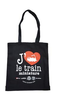 Sac J´aime le train miniature en coton