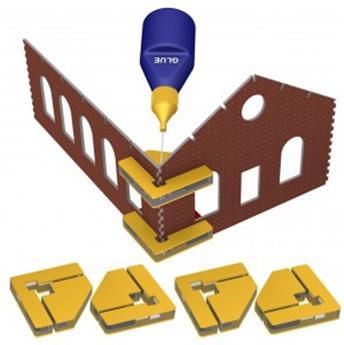Ensemble de 4 équerres aimantées pour assemblage de bâtiment en kit