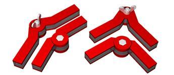 Ensemble de 2 équerres aimantées à angles réglables pour  toiture en kit