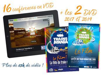 Les 2 DVD de Trainsmania + un accès au 16 conférences