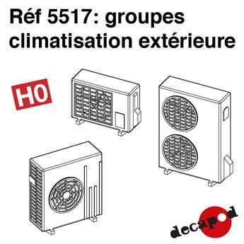 Groupe de climatisation extérieure