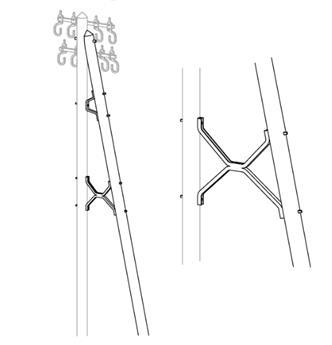 Jambes de force pour poteaux bois