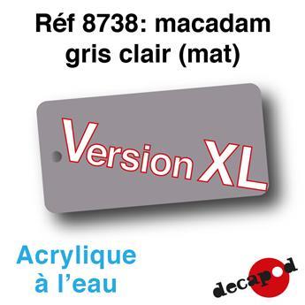 Peinture acrylique à l'eau Macadam gris clair XL