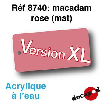 Peinture acrylique à l'eau Macadam rose foncé XL