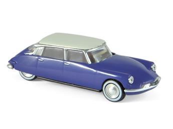 Véhicule Citroën DS 19 - 1959 - Bleu-violet toit blanc