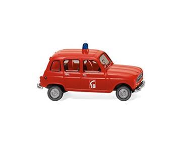 Véhicule Renault 4L pompier 18