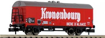 """Wagon couvert de transport de bière """"Kronenbourg"""" SNCF"""