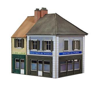 Maisons de ville / commerces librairie et bistro de Paris