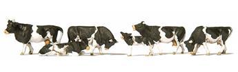 Set de 6 vaches - H0 - Preiser