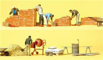 Ouvriers et accessoires - H0 - Preiser