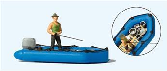 Pêcheur dans un canot - H0 - Preiser