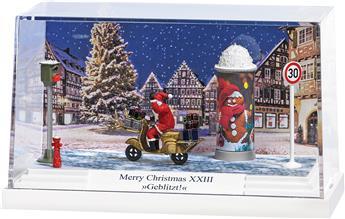 """Père Noël en scooter """"flashé"""""""