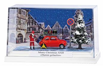 """Père Noël en voiture """"pas de chance"""""""