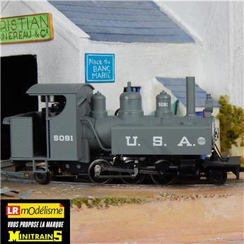 Locomotive à vapeur Baldwin type 131 à cabine ouverte, marquage USA