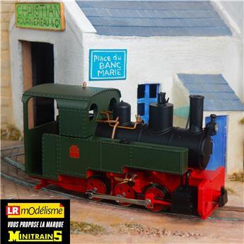 Locomotive à vapeur Decauville type Progrès, verte
