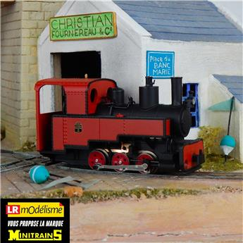 Locomotive à vapeur Decauville type Progrès, rouge