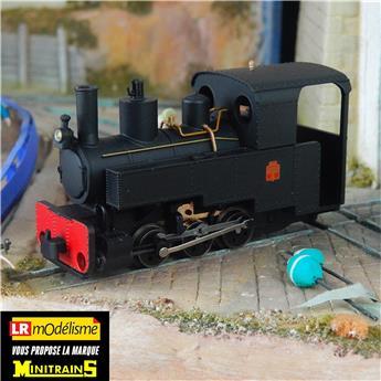Locomotive à vapeur Decauville type Progrès, noire