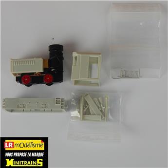 Set complet de construction (kit hors peinture) du locotracteur Plymouth, avec caisses et réservoir à air comprimé