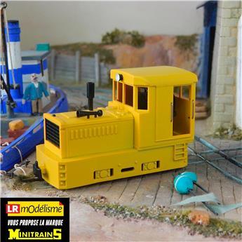 Locotracteur Plymouth jaune, châssis noir, sans caisses ni réservoir à air comprimé