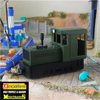 Locotracteur Plymouth vert, châssis noir, sans caisses ni réservoir à air comprimé