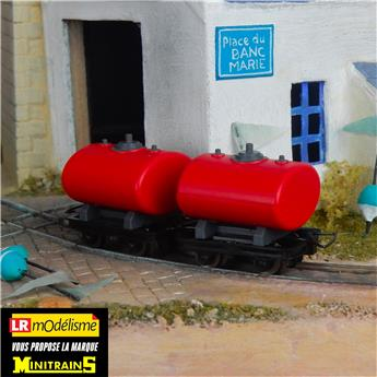 Set de 2 wagons-citerne rouges