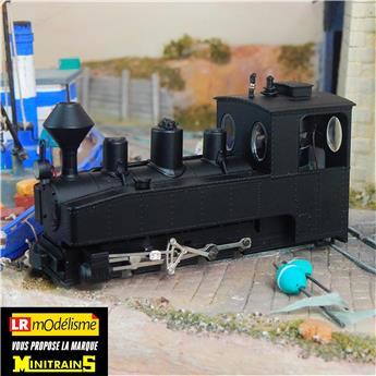 Locomotive de Brigade à vapeur type 040 T version civile avec châssis noir