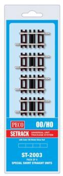 4 rails droits standards longueur 41mm code 100 Setrack