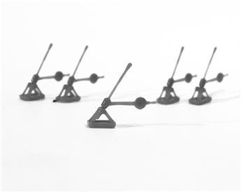 Leviers d'aiguillage à contrepoids 5 pièces