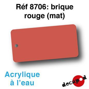 Peinture acrylique à l'eau brique rouge