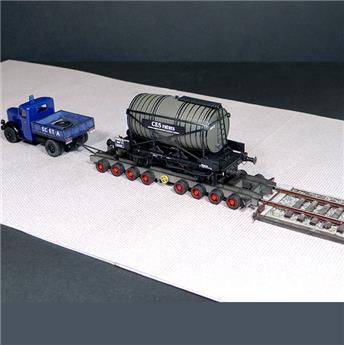 Terminal FERDOM + remorque porte-wagon Arbel + plateau tracteur