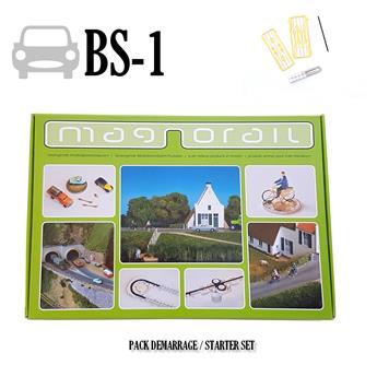 Pack complet Magnorail + 8 curseurs pour véhicules