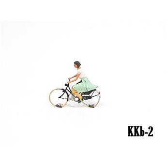 Cycliste femme prêt à rouler Magnorail